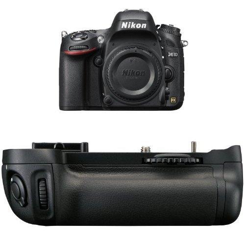 Nikon D610 24.3 MP CMOS FX-Format Digital SLR Camera (Body Only) + Nikon MB-D14 Multi Battery Power Pack