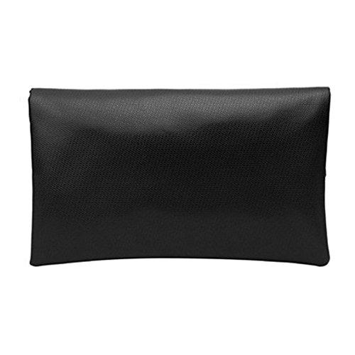 Femme main épaule en Noir d'embrayage à imitation abshoo sacs bandoulière Noir cuir sac TdaYq0S