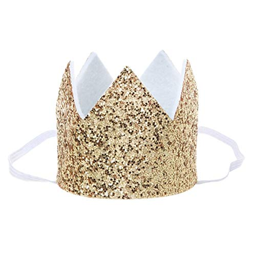 Party Hats - Gold Silver Glitter Bride Hats Cap Crown Headband Hen Night Party - Straw Space Construction Minecraft Circus Sparkle Pink Gold Poms Elmo Minnie Birthday Booth Teacher Light A -