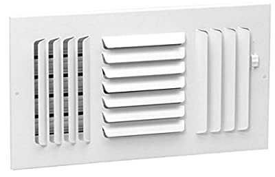 """12"""" x 8"""" - 3-Way Curved Blade Supply Air Grille - Maximum Air Flow - HVAC Vent Cover"""