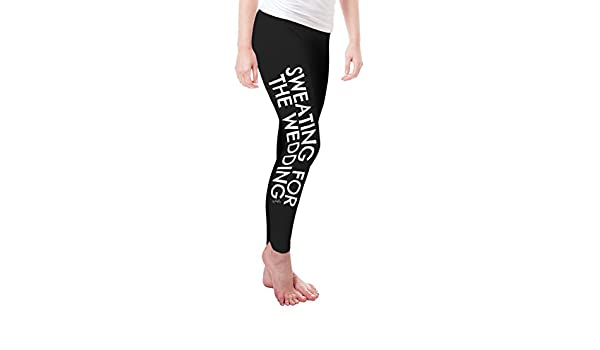 TWISTED ENVY Sweating for The Wedding Womens Funny Leggings