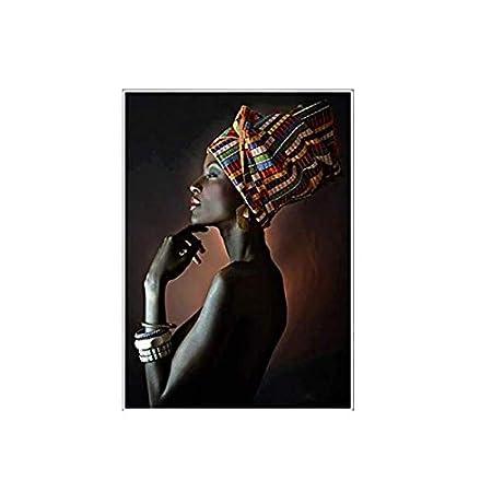 w15Y8 Labios Sexy Negros y Dorados Desnudo Arte Africano ...