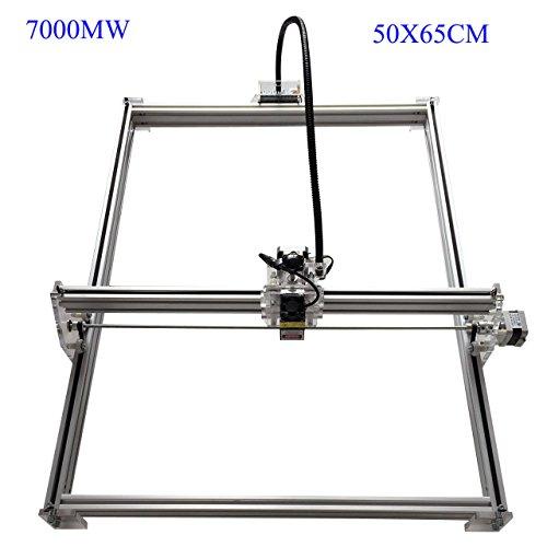Zowaysoon 50X65CM 7W Desktop Mini Laser Engraver DIY Laser Cutter Etcher Metal Iron Stell Stone Ceramic 450nm 7000MW Engraving Image Logo Printer (Laser Engraving Metal Pen)