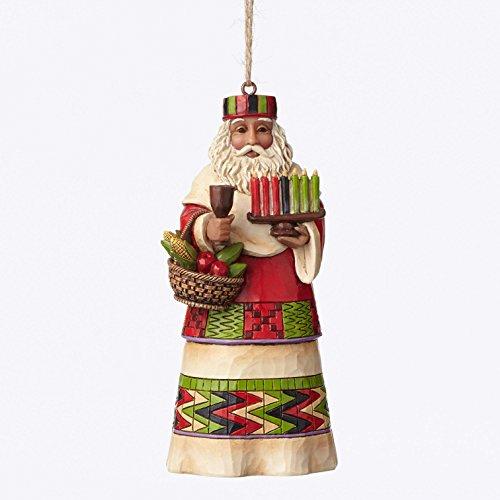 """Jim Shore Heartwood Creek African Santa Stone Resin Hanging Ornament, 4.75"""""""