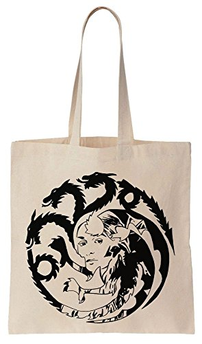 GoT Daenerys Targaryen Sigil Portrait Sacchetto di cotone tela di canapa