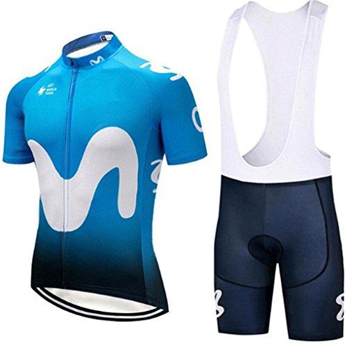 Men Cycling Jersey Sets Summer Mountain Racing Quick Dry Bib Shorts ()