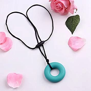 Green Baby Teething Teether Toys Necklace Pain Relief Silicone Pendant Biscuits Mom Jewelry BPA Free Toy Gift