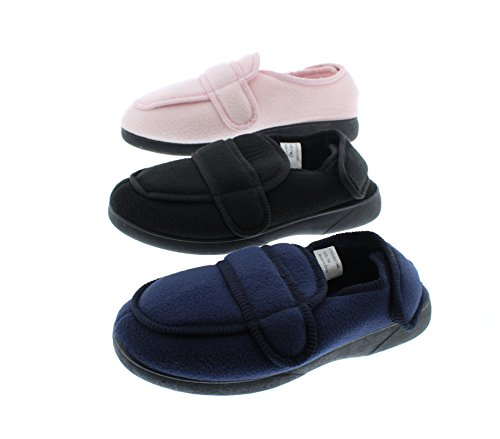 Clinic Gold Women's Slipper Woman Navy Shoes Orthodic for Orthopedic Gayle Womens Diabetics Toe Slippers Elderly Edema rIwxTU8Ywq