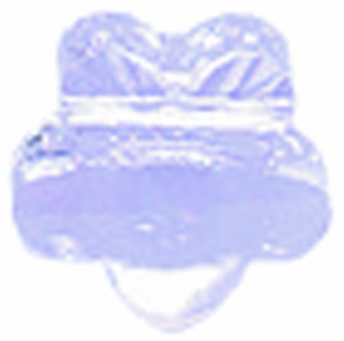 Swarovski 5744 Five Petal Flowers Beads, Transparent Finish, 6mm, Violet, 10-Pack