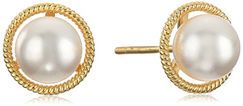 10k Gold Made with Swarovski Birthstone June Stud Earrings