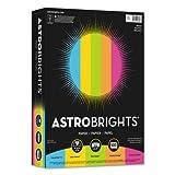 Color Paper -''Bright'' Assortment, 8 1/2 x 11, 5 Colors, 24lb, 500 Sheets