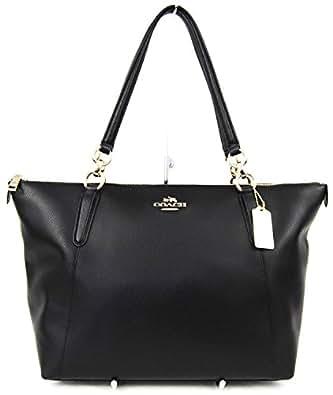 AVA Tote in Crossgrain Leather in Black $350.00