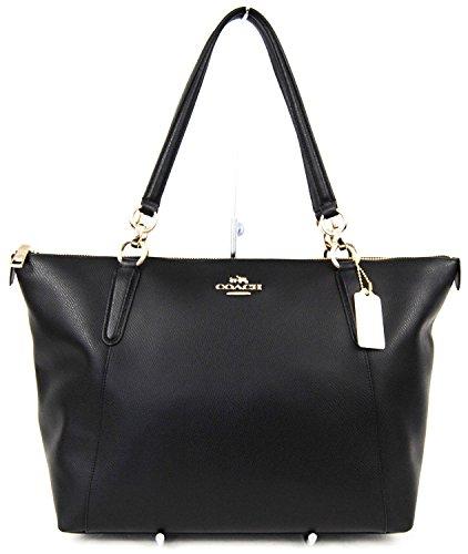 Coach Shopper Bag Tote Black Leather Handbag AVA 7W0wr7zqBv