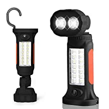ThorFire LED Work Light Lamp Hands-Free Torch Garage Flashlight with Strong Magnet Base, Adjusting Head and Hanging Hook for Auto, Home, Outdoor, Hunting, Fishing, Household and More