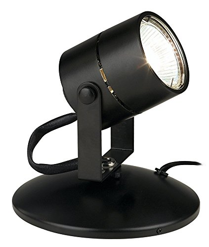 Tech Lighting 700F1-BLK Lil Big Wonder 1 Light Accent Lamp, Black (One Light Accent Light)