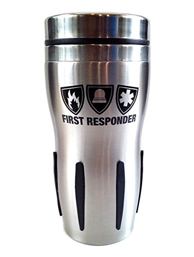 - First Responder Stainless Travel Tumbler Mug for Police,Firemen or EMT (BLACK)