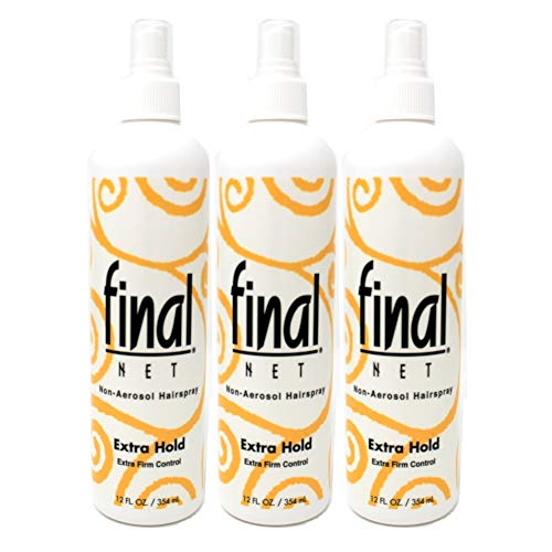 Final Net Hairspray Non-Aerosol Extra Hold 12 oz (Pack of 3)