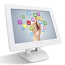 "Angel POS 12"" White Touch Screen POS TFT LCD TouchScreen PC Monitor VGA Great for POS Kiosk Retail Store Shop Restaurant Studio"