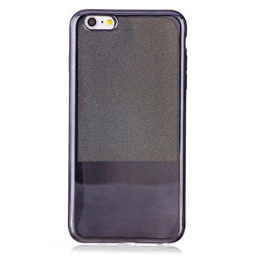 Phone Taschen & Schalen Für iPhone 6 Plus / 6s Plus, Galvanisierungsspiegel TPU Schutzhülle ( Color : Black )