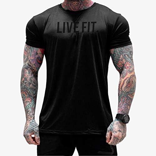 LVFT リブフィット Tシャツ Core Tech Tee - Black [並行輸入品]