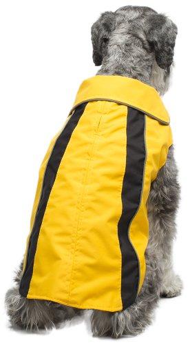 Legitimutt Storm Tech Dog Raincoat, Size 16, Yellow/Black by Legitimutt