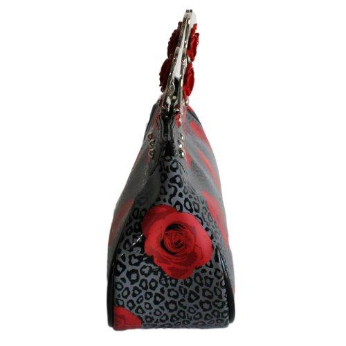 à ROSES Main Brand amp; LEOPARD Sac noir Too Fast BAG KNUCKS Hq7wwt