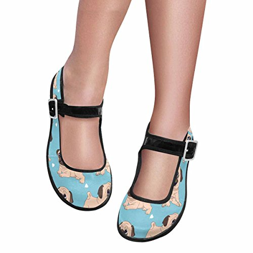 Interestprint Femmes Confort Mary Jane Appartements Casual Chaussures De Marche Multi 11