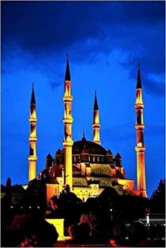 Book Selimiye Mosque in Edime Turkey at Night Journal: 150 page lined notebook/diary