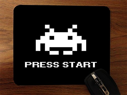 Retro Gaming Press Start Art Desktop Office Silicone Mouse Pad by MWCustoms