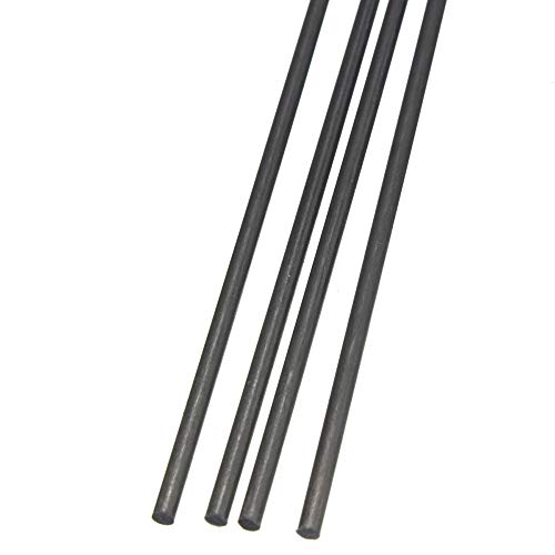 Fly-Fiber Fibra de Carbono Barras macizas Bar Mate Polo 4PCS 500mm / 19.7inch para la Herramienta de Bricolaje ala…