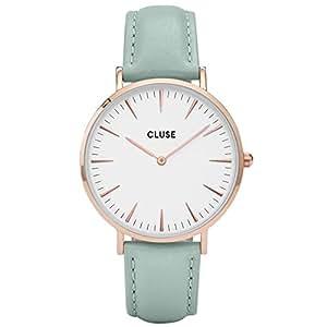 CLUSE La Bohème Rose Gold White Pastel Mint CL18021 Women's Watch 38mm Leather Band Minimalistic Design Casual Dress Japanese Quartz Elegant Timepiece