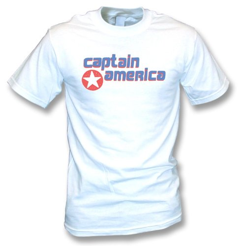 Captain America As worn by Kurt Cobain (Nirvana) T-shirt X-Large White