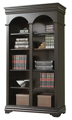 Veneer Wood Doors (Martin Furniture Beaumont Double Open Bookcase - Fully Assembled)