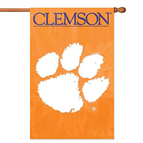 (Party Animal Clemson Tigers Banner College Flag)