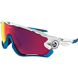 Oakley Men's Jawbreaker (a) Non-Polarized Iridium Rectangular Sunglasses, Polished White, 31 mm
