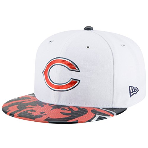 innovative design 2b115 aa3e6 Chicago Bears Draft Day Hat. New Era NFL Chicago Bears 2017 Draft On Stage 59Fifty  Fitted Cap, Size 7 ...