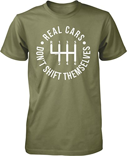 NOFO Clothing Co Real Cars Don't Shift themselves Men's T-Shirt, L Moss