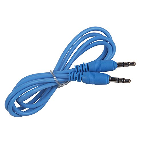 niceeshop 1m Light Blue 3.5MM Male To 3.5MM Male Auxiliary Stereo Audio Cable For iPod MP3 MP4 CD