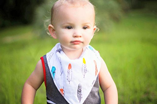 Baby Bandana Drool Bibs with Snaps, 8-Pack Organic Absorbent Drooling & Teething Bib Set by Matimati (Monochrome) by Matimati Baby (Image #4)