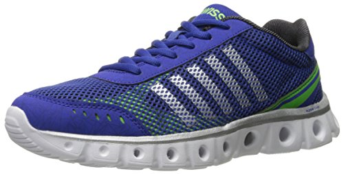 K-Swiss Men's X Lite Athletic CMF Cross-Trainer Shoe, Morning/Black/Flash Green, 9.5 M US