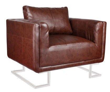 amazon com vintage brown accent armchair living room retro chair