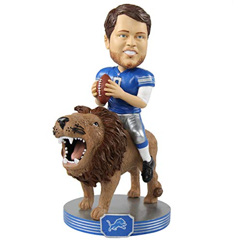 (FOCO Matthew Stafford Detroit Lions Riding Special Edition Bobblehead NFL)