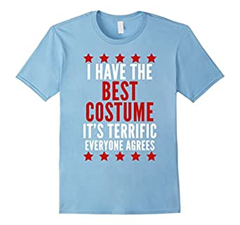 Mens I Have The Best Costume T-Shirt Funny Trump Halloween Tee 2XL Baby Blue