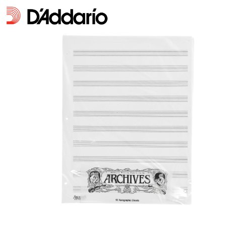 Archives Looseleaf Xerographic Manuscript Paper, 10 Stave, 50 Pages (Music General Sibelius)