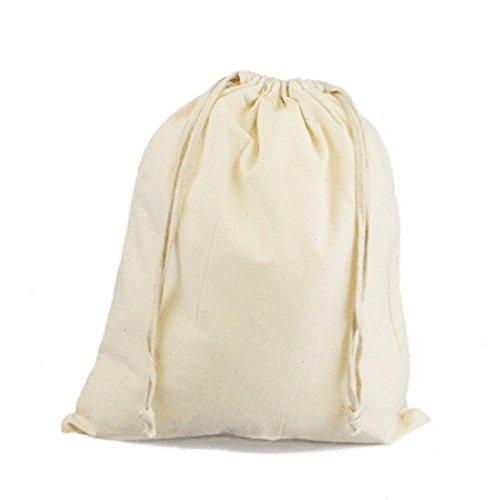 Custom Printed Burlap Drawstring Bags - 9