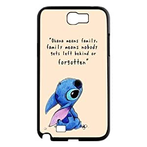 2015 HOT Lilo and Stitch Black Hard Case For Samsung Galaxy Note 2 Case GHLR-T423093