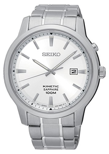 (Seiko Mens Analogue Quartz Watch with Stainless Steel Strap SKA739P1)