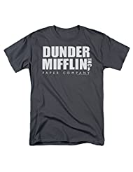 The Office Comedy Television Series Dunder Mifflin Inc. Logo Adult T-Shirt