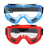 Toyvian 2pcs Motorcycle Helmet Riding Modular Face Mask Windproof Breathable Shield Goggles Outdoors(Red+Blue)