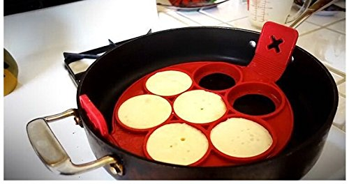 Silicone Pancake Maker Egg Omelette Mold Kitchen Gadgets Cooking Tools Fire Wagon Garden